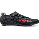 Northwave Flash 2 Carbon Shoes Men black/lobster orange